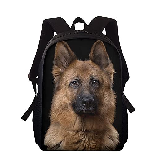La mochila escolar con estampado de perro pastor alemán para niñas adolescentes, niños, estudiantes de primaria, mochila para niños, mochila para niños, mochilas para niños, 38 * 27 * 11 cm 4