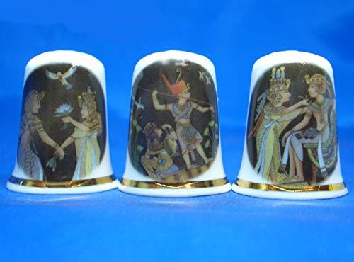 Birchcroft Porcelain China Collectable - Juego de Tres dedal