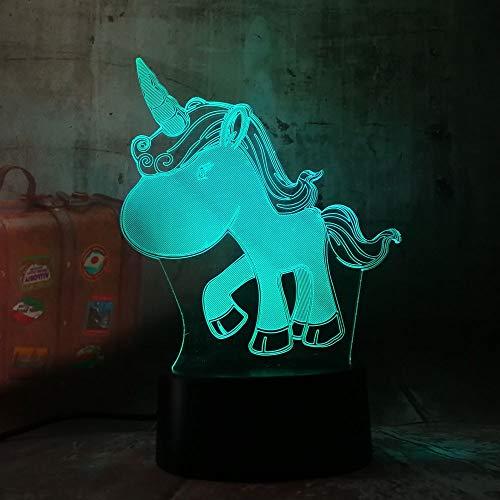 Jiushixw 3D acryl nachtlampje met afstandsbediening van kleur veranderende lamp romantische vervanger glanzend vakantie vriendin cadeau Philips kleur regenboog film tafellamp schuim