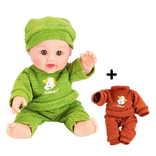 GuDoQi 30cm Bebe Reborn Muñecas, Realistica Molle del Silicone Suave Realista Bebé Renacido con Accessori per Bambini