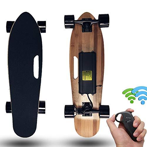 FGKING E-Skateboard, Elektro-Skateboard, Elektro Longboard, Motor Skateboard, Max 18 KM/H, sanftes Bremsen und Beschleunigung mit Wireless Remote, Stoß- Deck Fahrkomfort