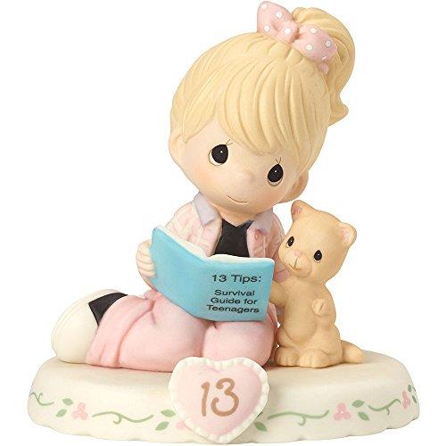 Precious Moments 162012 Crescendo na graça, 13 anos, estatueta de porcelana bisque, loira