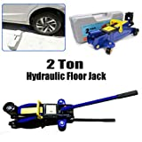 2 Ton Hydraulic Floor Jack Low Profile Car Jack Trolley Jack Quick Lift with Storage Case for Car Van Garage Workshop Lifting Range Heights from 135 to 320mm, Fits Almost Universal Cars