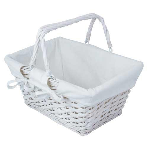 JVL Einkaufskorb, Weiß