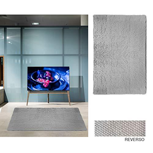 Comercial Candela Alfombra de Salón Gran Tamaño - Pelo Largo Alfombra de Salon y Dormitorio, Suave y Moderna Gris 150x200