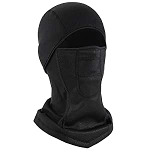 RUPUMPACK Balaclava Face Mask Water Resistant Windproof and Lightweight, Sun UV Protection Ski Mask for Men, Cold Weather Thermal Hood Breathable Headwear for Hiking Motorcycle Cycling Black