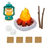 UANDME 10pcs Kids Pretend Play Camping Toys Campfire Lantern Marshmallow Pretend Play Toys for Girls Boys Indoor and Outdoor Games