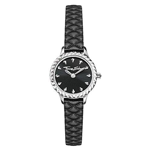 Thomas Sabo Damen-Armbanduhr Rebel at heart Miniature schwarz Analog Quarz WA0328-203-203-19 mm