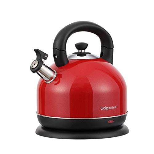 YVX Cooking Teapots Water Boilers Electric Kettles Office Large-Capacity Tea Kettles Coffee Makers 3L Pyramid Kettles (Color : Red)