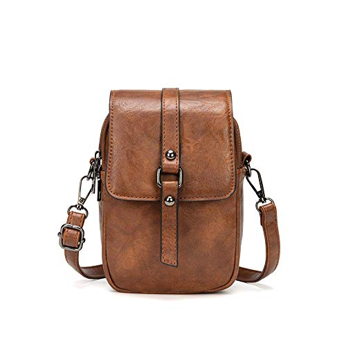 PREMIUM MATERIALS- The crossbody phone bag is made of light and durable PU leather. High quality golden metal hardware is high resistant to rust, and zippers are smooth enough, there is no need to worry about stuck issue. LARGE CAPACITY- Dimension of...