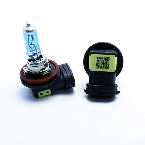 2X Ampoules Halogène H8 PGJ19-1 35W 12V Blanc 5000K Effet Xénon