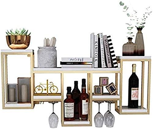 Estante para vinos de pared, estante de vidrio invertido, estante para vinos, exhibición de decoración de pared, estantes para almacenamiento en el hogar, estantes 106x20x60cm Almacenamiento Beautiful