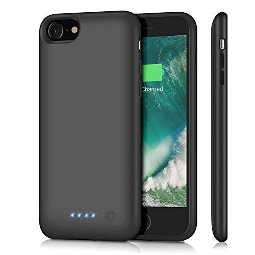 Ekrist Funda Batería para iPhone 7/8/6/6s/SE 2020, 6000mAh Funda Cargador Portatil Ultra Capacidad Carcasa Batería Recargable Batería Externa para iPhone 7/8/6/6s/SE 2020 [4.7 Pulgadas]