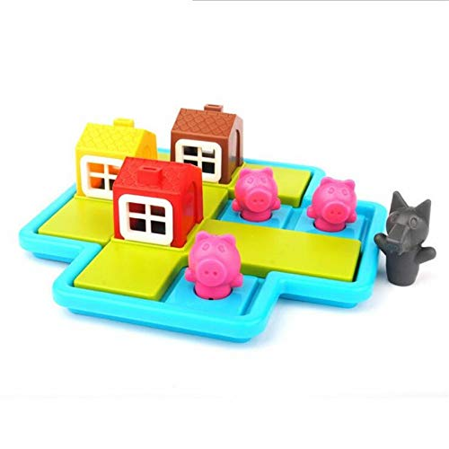 UYGN Smart Hide & Seek Juegos De Mesa Three Little Piggies 48 Challenge con Solution Games Iq Training Toys For Children