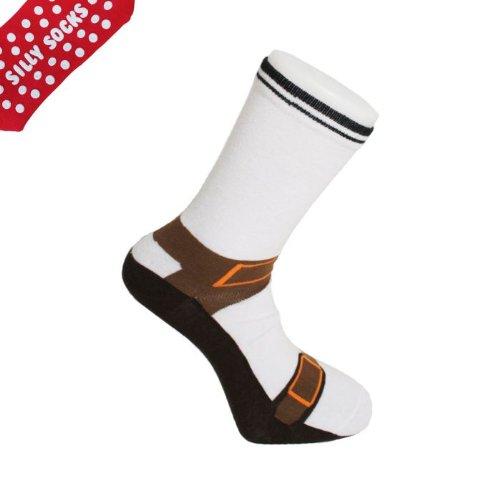 Silly Socken Sandale design) (Dicke Socken, mit Anti-Rutsch-Polster an Sohle