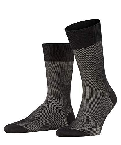 FALKE Herren Socken Fine Shadow - 80% Baumwolle, 1 Paar, Schwarz (Black 3000), Größe: 41-42