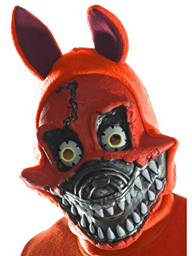 Rubie's Costume Co Men's Five Nights At Freddy's Nightmare Foxy 3/4 Mask, As Shown, One Size