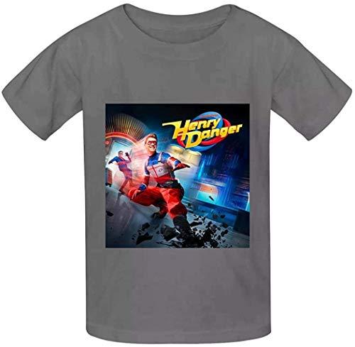 YYdg Niños Niños Niñas Camiseta He-nRY da-NG-eR Camiseta de algodón con Cuello Redondo Blusa Estampada de Manga Corta para niños Niñas