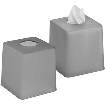 mDesign Juego de 2 Cajas para pañuelos de Papel – Caja para toallitas para baño, Dormitorio o