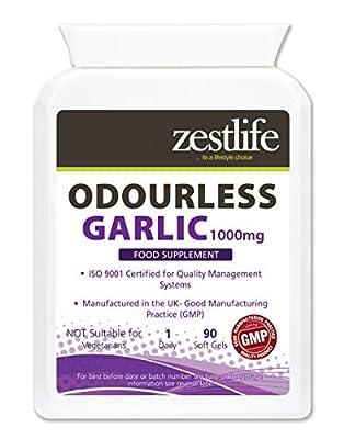 Zestlife Odourless Garlic Soft Gel Capsules 1000mg - One-a-Day