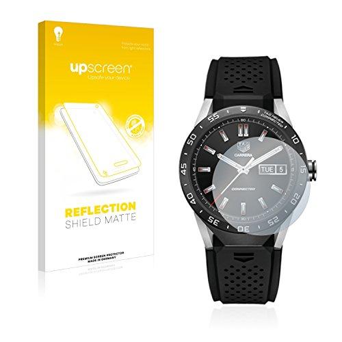 upscreen Entspiegelungs-Schutzfolie kompatibel mit Tag Heuer Connected 46 – Anti-Reflex Bildschirmschutz-Folie Matt