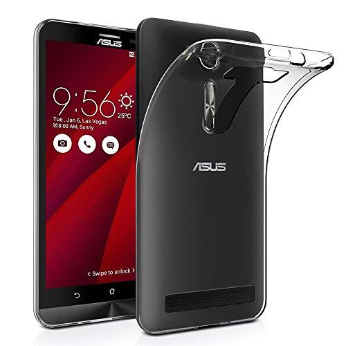 ANNART - Carcasa de silicona para Asus Zenfone 2 Laser ZE600KL/ZE601KL, ultrafina para Asus Zenfone 2 Laser ZE600KL/ZE601KL de 6,0', transparente