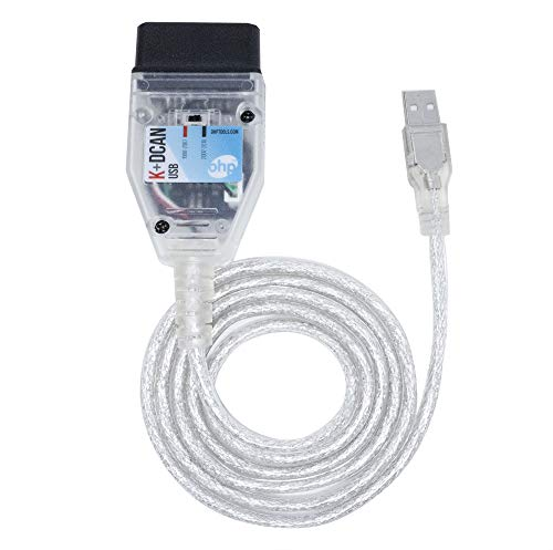 OHP New K+DCAN OBD2 USB Cable Interface for BMW E Chassis Models from 1998-2016