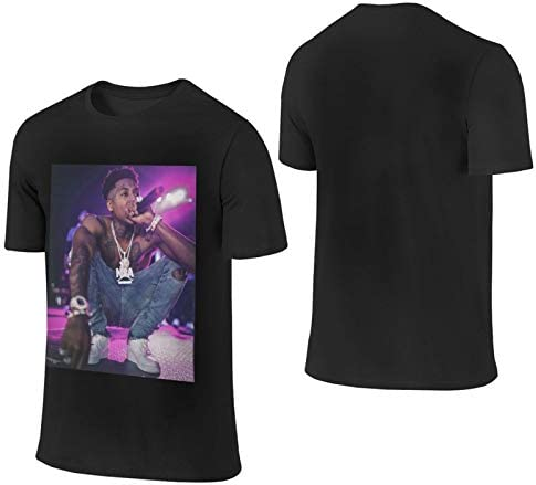 N-B-A Young=Boy Rapper Design Pure Cotton Breathable T-Shirt for Man