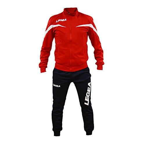 Perseo Sport Tuta Legea Mosca T122 Uomo Allenamento Fitness Calcio Tempo Libero Vari Colori e TG … (L, Rosso/Blu)