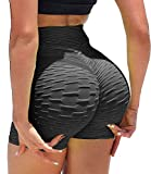 KIWI RATA Women's High Waisted Yoga Shorts Sports Gym Ruched Butt Lifting Workout Running Hot...