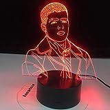 Personaje de dibujos animados lámpara de mesa 3D acrílico LED multicolor luz nocturna decoración regalo