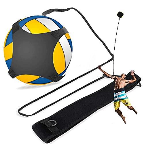 PINCOU Attrezzatura per l'allenamento di pallavolo con palla rimbalzante con cinturini e cinturini regolabili per servire, spiking, impostare, colpire e praticare da solo le rotazioni del braccio