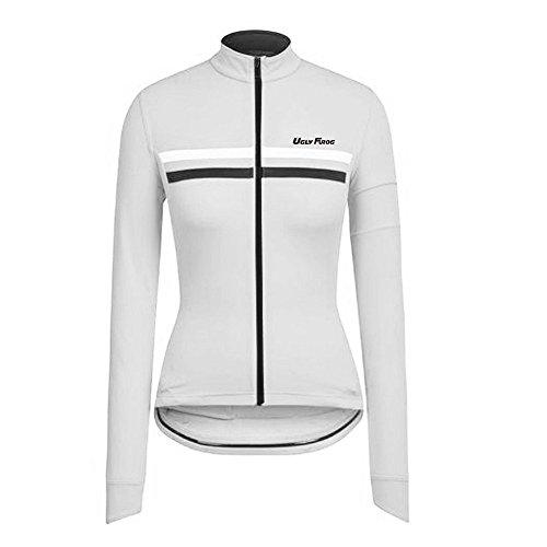 Uglyfrog Damen Radtrikot Atmungsaktiv Fahrradbekleidung Trikot Langarm Jersey Frauen Mountainbike Jersey Shirts Lange Rennrad Kleidung MTB Tops Sportbekleidung