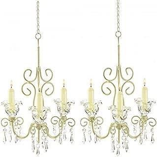 8 French Courtly Chandelier Candle Holder Elegant Wedding Hanging Decor