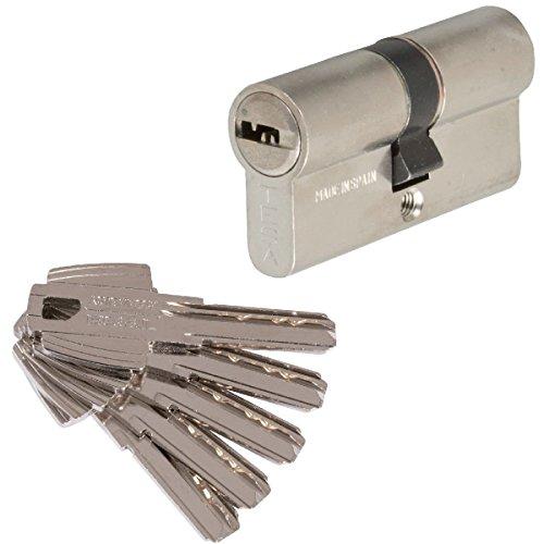 Tesa Assa Abloy 3012432 Cilindro Tesa Seguridad T60  30x40 Niquelado leva corta, 30x40 mm