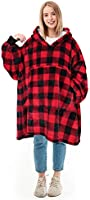 Kato Tirrinia Hoodie Blanket, Oversized Sherpa Sweatshirt, Super Soft Warm Wearable Blanket, Comfortable Giant Hoody...