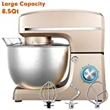 Stand Mixer, Sincalong 8.5QT 660W 6 Speed Tilt Head Electric Mixer with Stainless Steel Bowl, Splash...