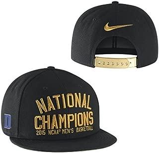 Duke Blue Devils 2015 NCAA Men's Basketball Tournament Champs Locker Room Adjustable Hat - Black/Gold