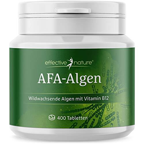 effective nature AFA Algen Tabs, beste Rohkostqualität, Presslinge aus 100 % reinem, veganen AFA-Algen-Pulver, Wildsammlung, hoher Proteingehalt, kontrolliert in Deutschland, 400 Tabletten
