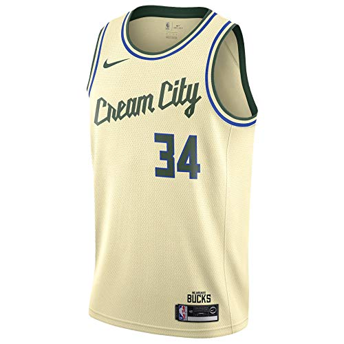 Nike MIL NBA City Edition Swingman Jersey Mens AV4652-280 Size XL