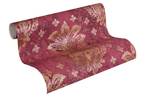 A.S. Création Vliestapete Boho Love Tapete mit floralen Ornamenten in metallischer Vintage Optik 10,05 m x 0,53 m rot goldfarben metallisch Made in Germany 364564 36456-4