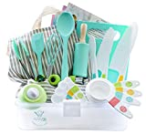Tovla Jr. Kids Cooking and Baking Gift Set with Storage Case - Complete Cooking Supplies f...