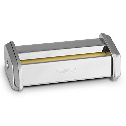 Klarstein Siena Zubehörteil Zubehör-Aufsatz Siena Pasta Nudel Maker Nudelmaschine (Edelstahl, 45mm Nudel-u. Pasta-Aufsatz) Silber