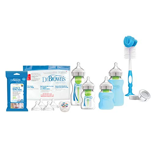 Dr. Brown's Options + Wide-Neck Glass Baby Bottle Starter Set