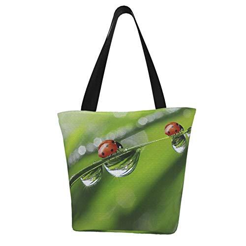 Red Ladybug - Bolso de mano para mujer, bolsa de la compra reutilizable