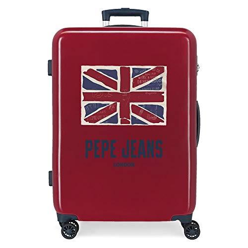 Pepe Jeans Andy Maleta Mediana Rojo 48x68x26 cms Rígida ABS Cierre combinación 70L 3,7Kgs 4 Ruedas Dobles