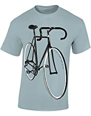 Fiets T-shirt: Freedom Machine - Fixie fiets geschenken voor dames en heren mannen vrouwen - entree fietser mountainbike MTB BMX Velo racefiets E-bike outdoor sport urban streetwear