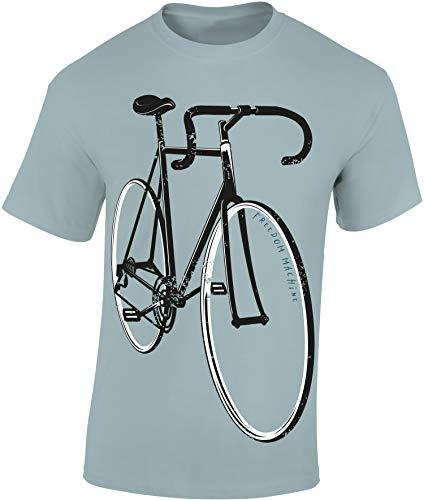 Fahrrad T-Shirt: Freedom Machine - Fixie Rad Geschenke für Damen & Herren Mann Männer Frau-en - Eingang Radfahrer Mountain-Bike MTB BMX Velo Rennrad E-Bike Outdoor Sport Urban Streetwear (M)