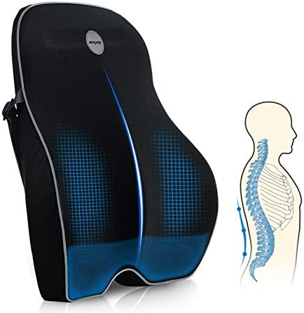 Winjoy Lumbar Support Pillow for Office Chair Memory Foam Ergonomic Orthopedic Backrest Back product image