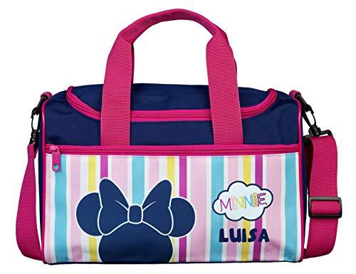 Sporttasche mit Namen   Bedrucken & Personalisieren   Minnie Mouse   Reisetasche   Kindertasche inkl. Namensdruck